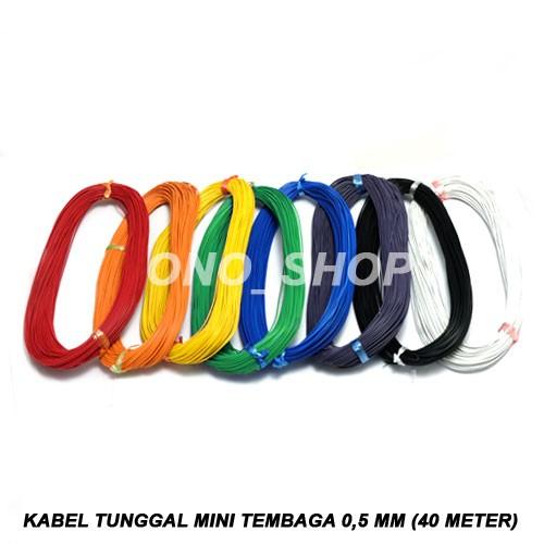 Foto Produk Kabel Tunggal Mini Tembaga 0,5mm (40 Meter) - Merah dari ONO SHOP