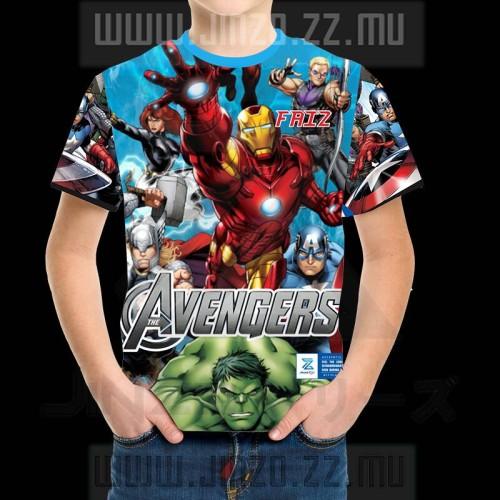 Foto Produk Kaos Anak Avengers 1 iron man captain America hulk dari Jinzo Series