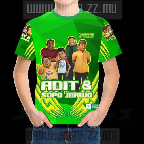 Foto Produk Kaos Anak Adit dan Sopo Jarwo 1 dengan namanya sendiri hijau dari Jinzo Series