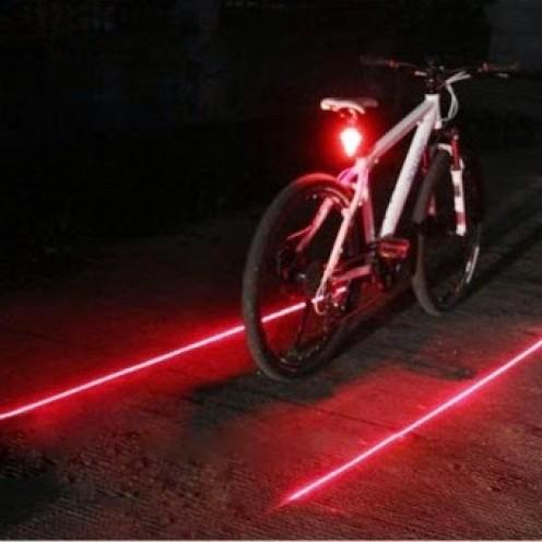 Foto Produk Lampu Belakang Sepeda Laser Tail Light MURAH BERGARANSI GRATIS BATERAI dari Clothing Heaven
