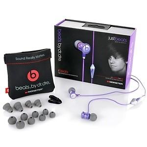 Foto Produk Justbeats Earphone Beats by Dr Dre OEM (ibeats with control talk) ungu dari Elenna-Store