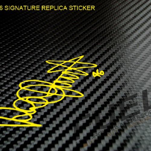 Foto Produk Sticker/Stiker Valentino Rossi Signature (tanda tangan) - Vale 46 dari Fuel