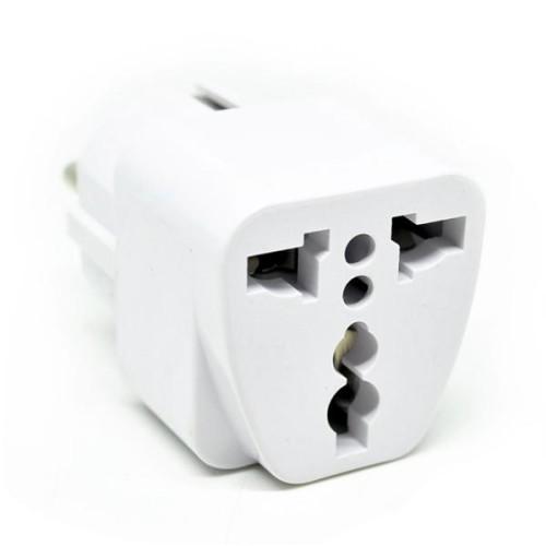 Foto Produk unik EU 2 Round Plug Adapter to Universal 3 Pin Plug Travel   unik dari hoon payon