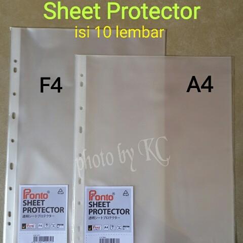 Foto Produk ATK0061 (F4-10lembar) Sheet Protector Pronto Plastik Pelindung File dari KC Wholesale