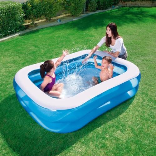 Foto Produk Kolam Renang Anak Bestway Blue Rectangular Family Pool 201cm #54005 dari toy house
