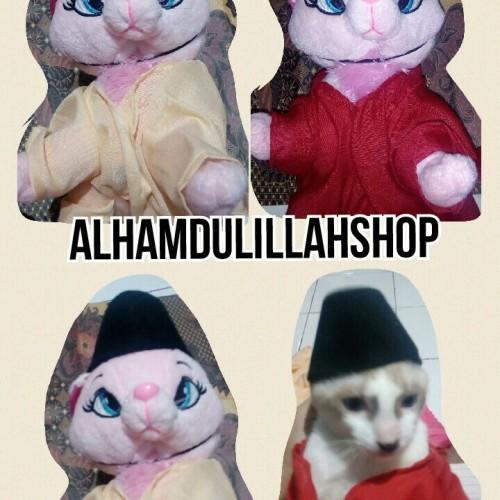 Foto Produk baju muslim dan peci untuk kucing size S - Kuning dari alhamdulillahshop