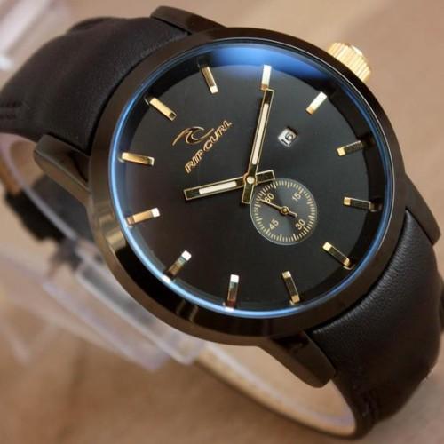 Foto Produk Jam Tangan Pria Ripcurl Dt39 Crono Detik Aktif Leather Black dari dunia online shop