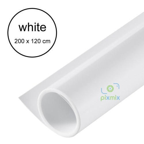 Foto Produk 2 METER - BACKGROUND / ALAS FOTO PRODUK - BAHAN PVC WATERPROOF - WHITE dari pixmix