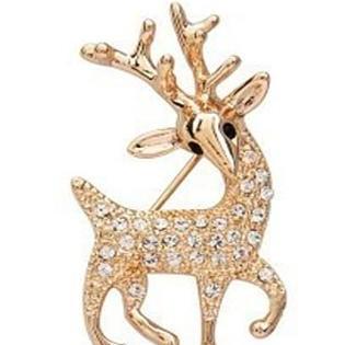 Foto Produk bross rusa emas berlian sparkling diamond deer influx jbr003 dari Oila
