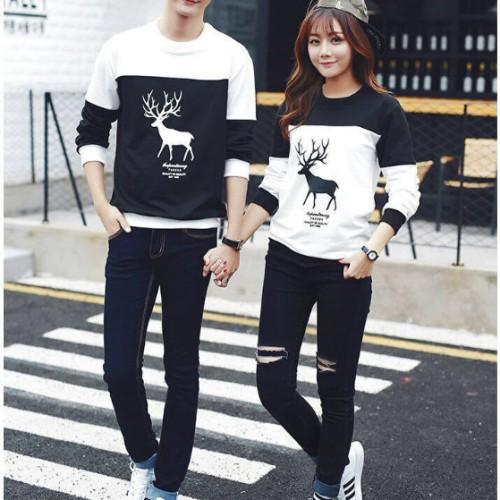 Foto Produk Kaos couple rusa lengan panjang dari Grosir Baju Couple :)