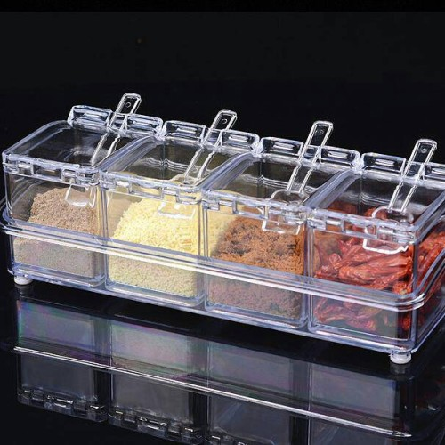 Foto Produk crystal Seasoning box / 4 IN 1 TEMPAT BUMBU DAPUR CRISTAL UNIK LUCU dari Diin Shop