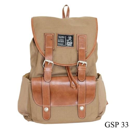 Foto Produk Tas Trendy Modis Keren Canvas Coklat GSP 33 dari Gudang Fashion