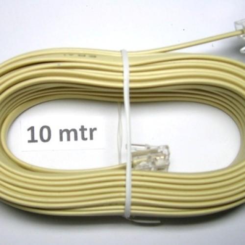 Foto Produk Kabel LINE Telpon 10 m + Jack RJ 11/ Telepon Telfon Cable 10m+Jek RJ11 dari Sinar Ceria Elektonik