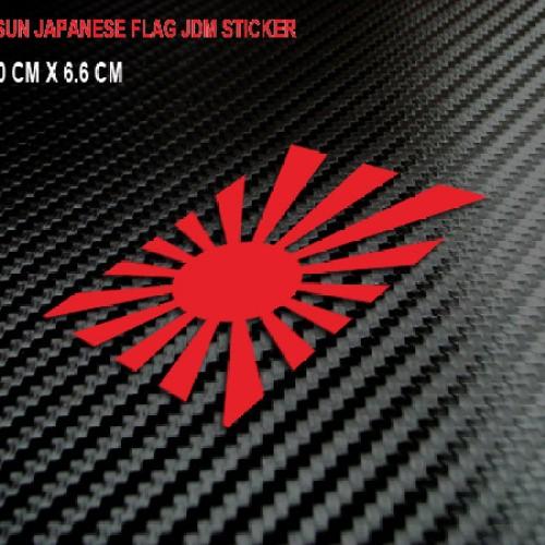 Foto Produk JDM Sticker/Stiker Japanese Rising Sun Flag 01 untuk Mobil, Motor, Hel dari Fuel