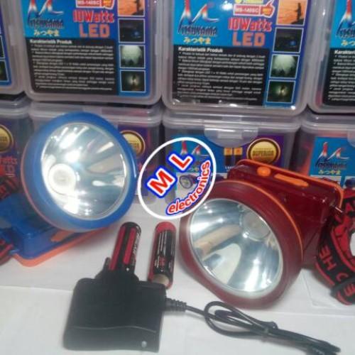 Foto Produk Head lamp / senter kepala MITSUYAMA MS-140SC | LED PUTIH | 10W dari MAHKOTA LAMPU ELEKTRONIK