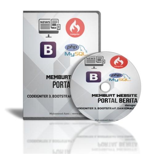 Foto Produk DVD Tutorial Membuat Webiste Berita Dengan Codeigniter & Bootstrap dari tutorial pemograman