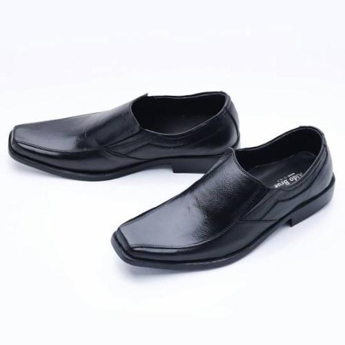Foto Produk Sepatu Pria Pantofel Formal Slip On Kulit Asli MURAH 502HT - Hitam, 40 dari FORDZA Shop