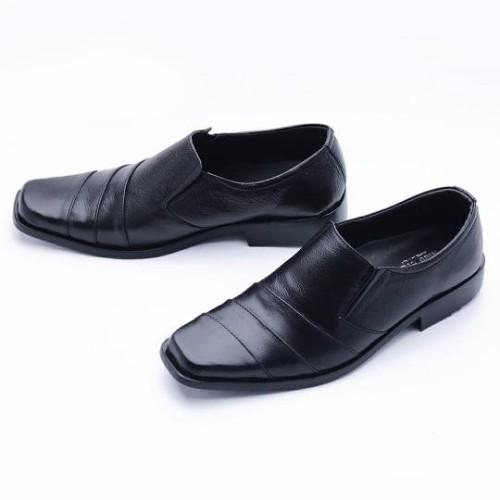 Foto Produk SEPATU PANTOFEL/ Sepatu Kerja Pria Formal Kulit Asli 507HT BEST SELLER - Hitam, 38 dari FORDZA Shop