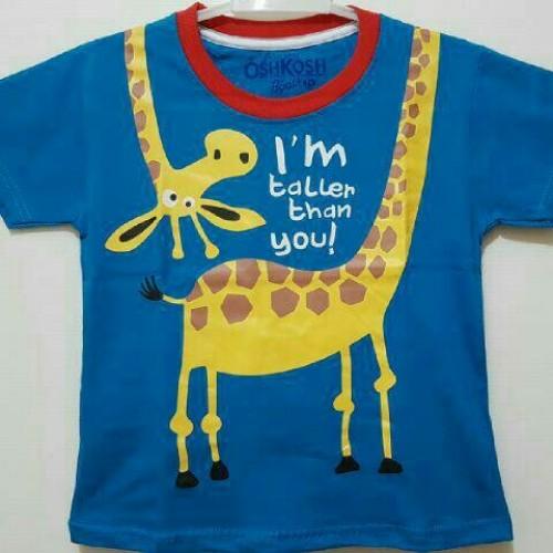 Foto Produk baju anak oshkosh jerapah biru size 1-6T dari MAYA FINKA KAOS KARAKTER