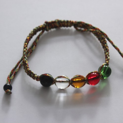Foto Produk Gelang tali serut pancawarna + kristal pancawarna dari Metta Ribbons