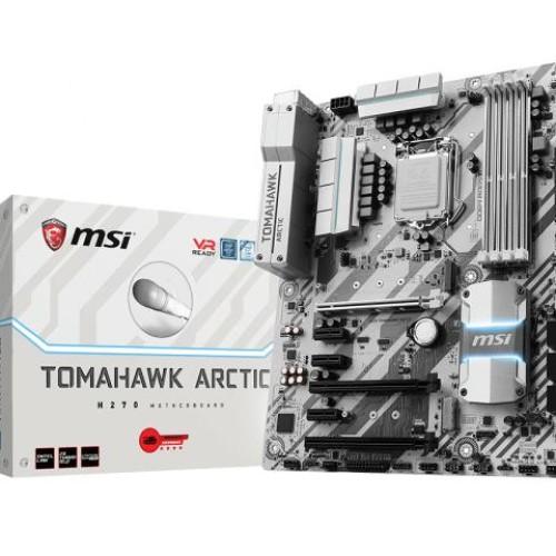 Foto Produk MSI H270 Tomahawk Arctic (LGA1151, H270, DDR4) dari distributorkomputer