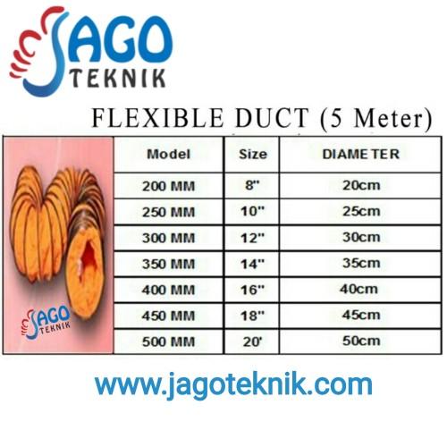 Foto Produk Flexible Duct 8 inch / Selang Angin / Selang Flexible / Hose KATSU dari Jago Teknik