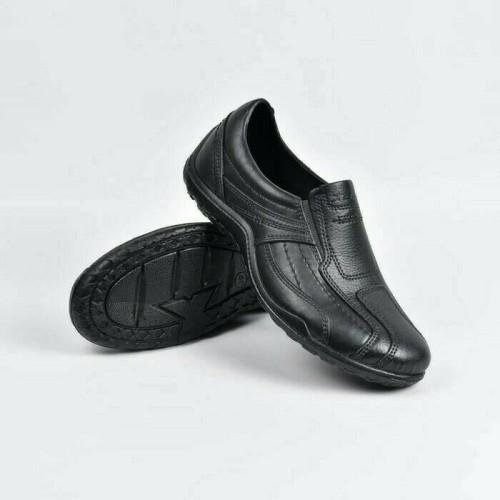 Foto Produk AB375 Sepatu Pria Pro ATT AB 375 Murah Karet Motif Jahitan Sekolah - Hitam, 41 dari Toko Buka