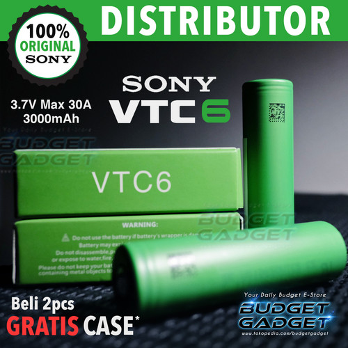 Foto Produk Battery SONY VTC6 / VTC 6 (Original) 18650 3.7V 3000mAh Max 30A dari BudgetGadget
