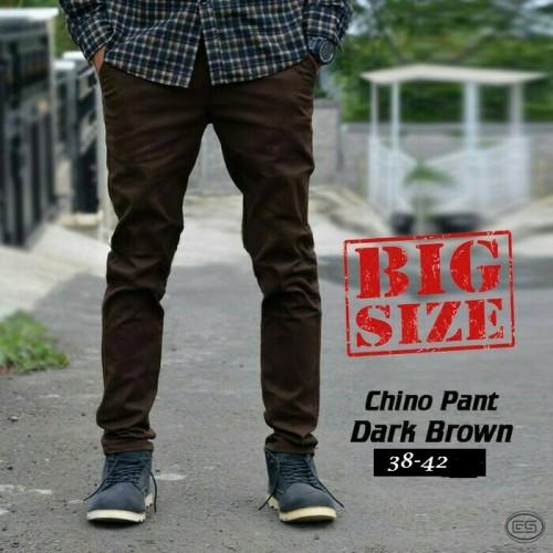 Foto Produk Celana Pria Chino Cokelat Tua BIG SIZE-Brown-JUMBO-38-39-40-41-42 dari sepatu azer