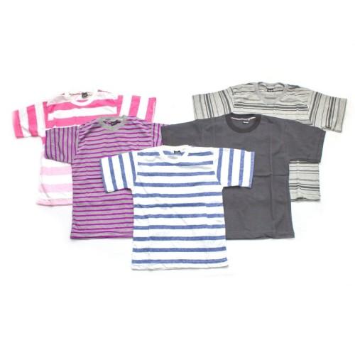 Foto Produk Kaos Anak Bergaris Salur Grosir Murah - Size XS (0-1 tahun) dari Grone