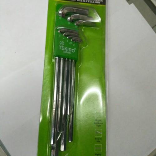 Foto Produk Kunci L Set panjang Tekiro 8pcs / Kunci L Set Long Tekiro 8pcs dari TRISAKTI JAYA ABADI