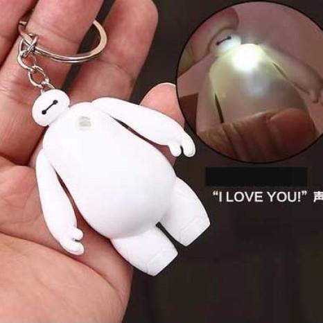 Foto Produk Gantungan Kunci Lampu Baymax Suara I Love You Keychain Big Hero 6 Tas dari Baranguniku