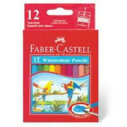 Foto Produk Pensil Warna Faber Castell 12 Watercolour Pencils dari HEARTBEAT SNACK BANDUNG