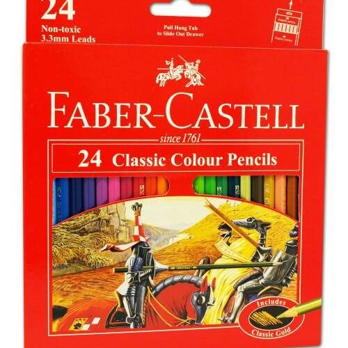Foto Produk Pensil Warna Faber Castell 24 Classic dari HEARTBEAT SNACK BANDUNG