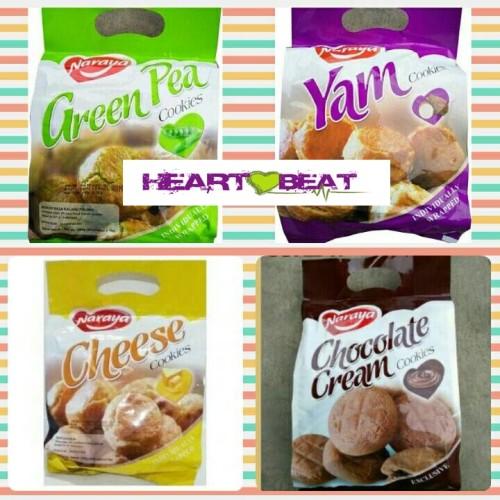 Foto Produk Naraya Cookies Chocolate Cream / Cheese / Yam / Green Pea dari HEARTBEAT SNACK BANDUNG
