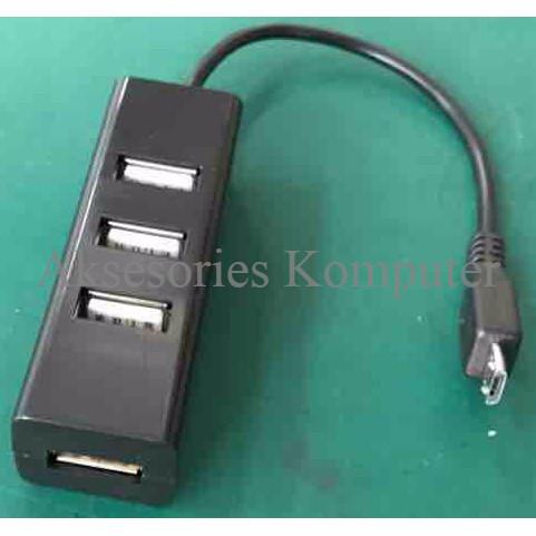 Foto Produk Micro USB OTG 2.0 USB HUB 4 Port 480Mbps dari SmartComputer89