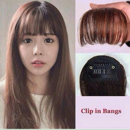 Foto Produk Poni clip tipis korea murah - Hitam dari Valensia Hair