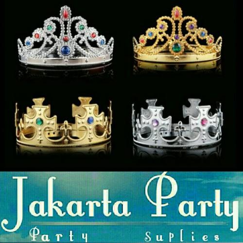 Foto Produk king And Queen Crown / Mahkota Raja Dan Ratu / Mahkota Ultah dari Jakarta Party
