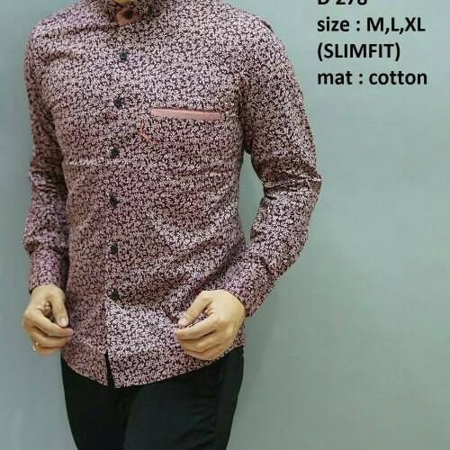 Foto Produk Baju Batik Pria Slim Fit Modern Keren Mewah Elegan D278 dari Lina Batik Distro