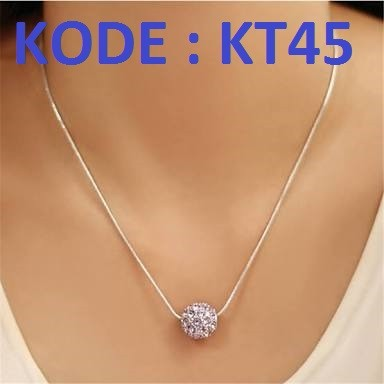 Foto Produk Kalung Titanium ANTI KARAT SELAMANYA, KT45 - Perak dari D Aksesoris