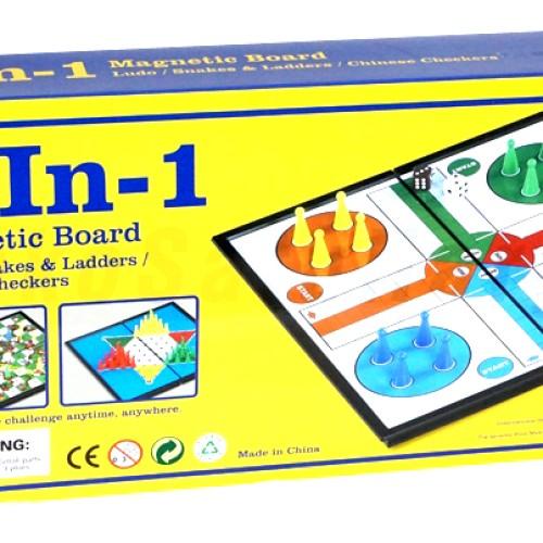 Foto Produk Magnetic Board Game 3 In 1 Ludo, Halma, Ular Tangga Murah dari ciustoys