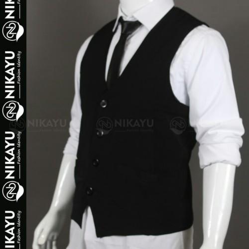 Foto Produk New VEST HIGH TWIST - Baju Pakaian Pria Rompi Dalaman Jas Blazer - Hitam, M dari SLIMFIT SHOP