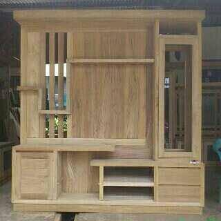 Foto Produk Lemari tv dan hias minimalis jati jepara dari berkah jati furniture