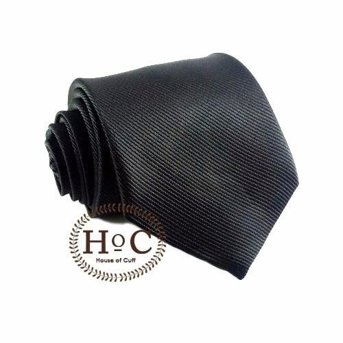 Foto Produk Houseofcuff Dasi NeckTie Slim Polos Wedding Best Man BLACK TIE 2 - Hitam, 2 inch dari House of Cuff