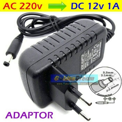 Foto Produk Adaptor DC 12v 1.5A in: 220V AC Power Supply 2.1x5.5mm Adapter LEDCCTV dari Toko-Kenari