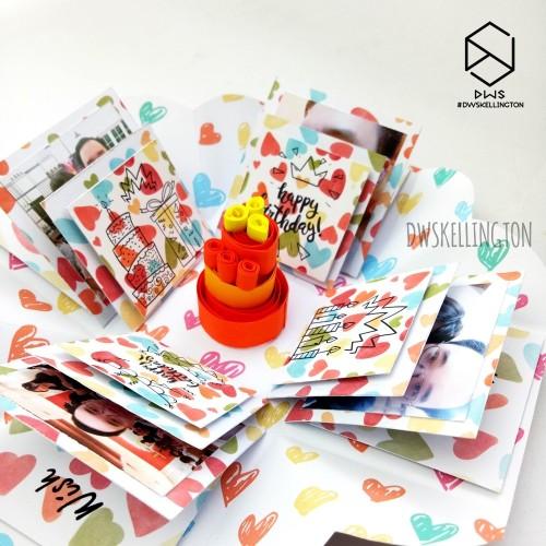 Foto Produk Kado Pop Up Explosion Box Hadiah Unik Pacar Anniversary dari Doodle Art DWskellington