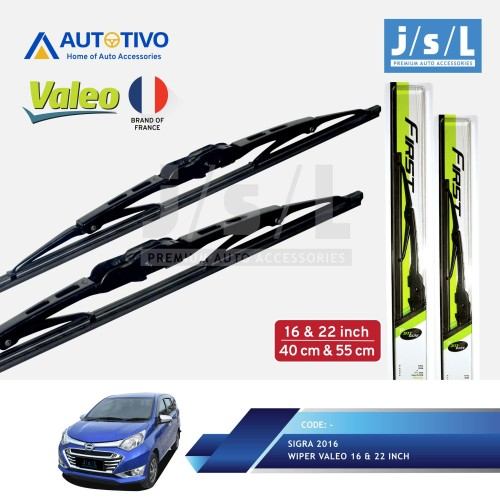 Foto Produk Daihatsu Sigra Wiper Mobil Valeo (2 Pcs Kiri Kanan)/Aksesoris Sigra dari Autotivo