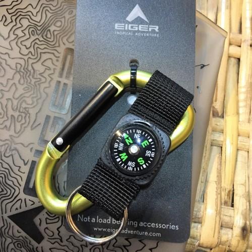 Foto Produk Carabiner Eiger 8mm Pear Car With Strap Compass - Yellow  dari Otdor Store