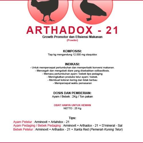 Foto Produk Arthadox 21 - Growth Promotor & Feed Eficiency pada Ayam dan Bebek dari Cv Kuda Hitam Perkasa