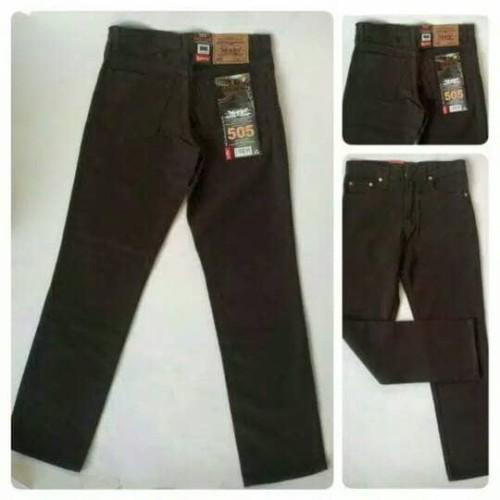 Foto Produk Celana Jeans Jumbo Size 39-44 Coklat dari Sandang shop